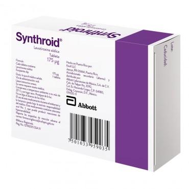 Synthroid 175 mcg Caja Con 30 Tabletas