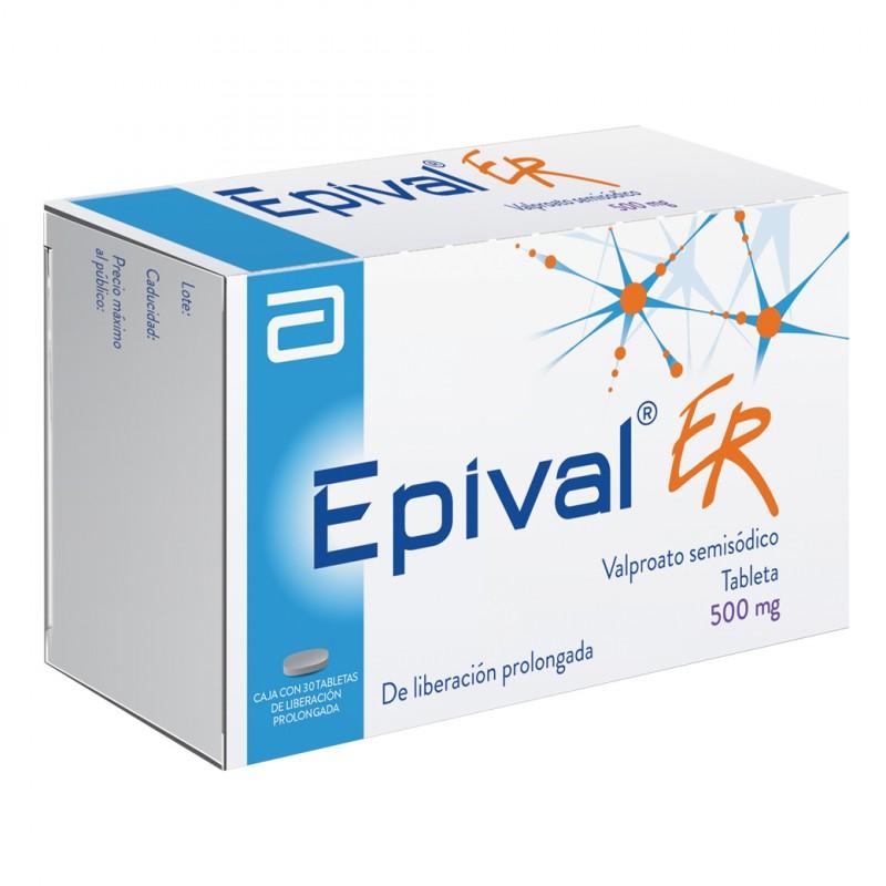 Epival ER 500 mg Caja Con 30 Tabletas