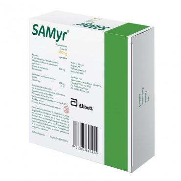 Samyr 500 mg Caja Con 5 Frascos Ámpulas de 5 mL