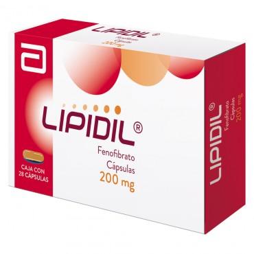 Lipidil 200 mg Caja Con 28 Capsulas