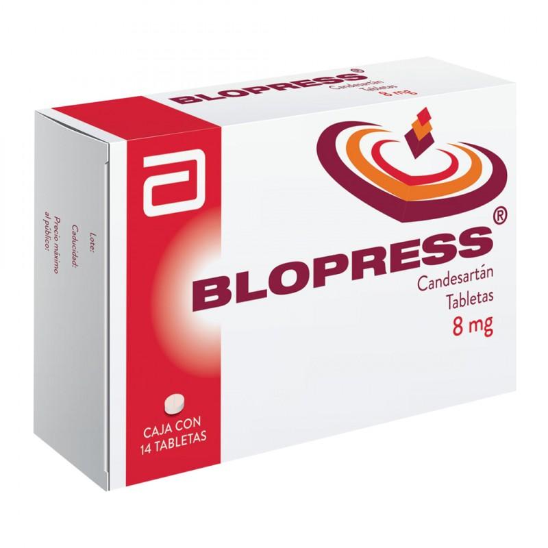 Blopress 8 mg Caja Con 14 Tabletas