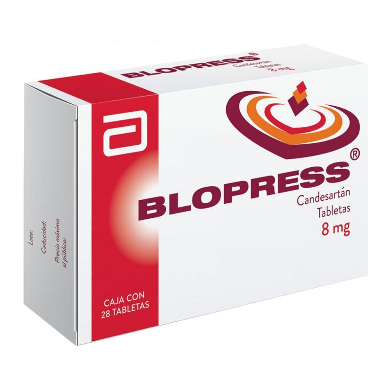Blopress 8 mg Caja Con 28 Tabletas