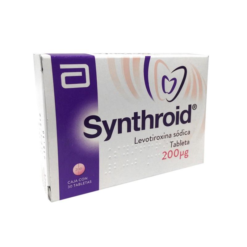 Synthroid 200 Mcg Caja Con 30 Tabletas